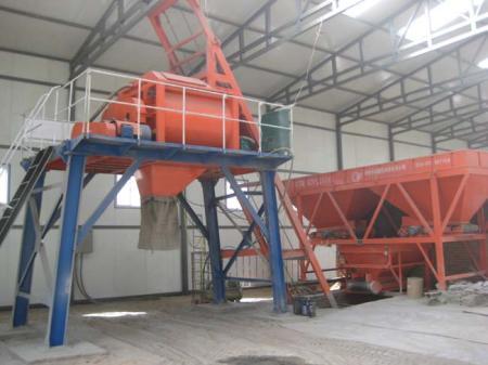 地面柔模混凝土混合制备系统